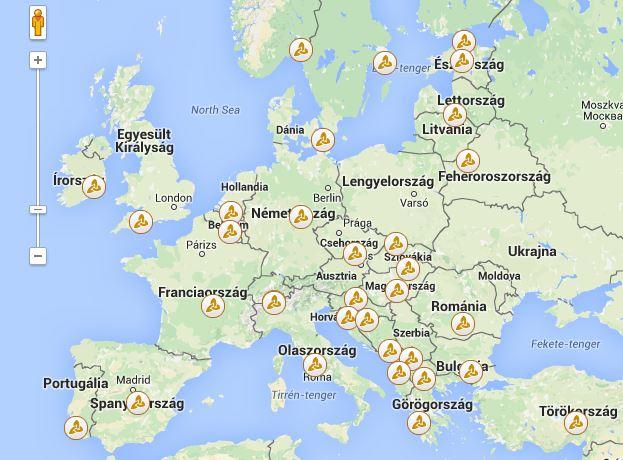 Üzleti partner kereső térkép